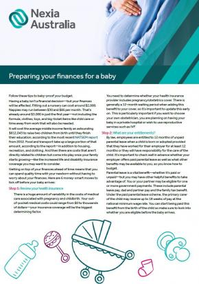 Preparing your finances for a baby