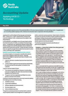 Applying AASB 15 - Technology